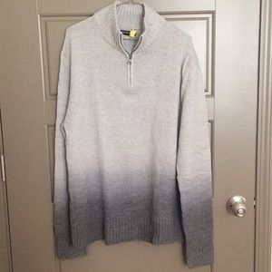 Express Men's 1/4 Zip Two-Toned Sweater